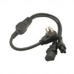 USA Canada multi function Power cord Flat US plug to IEC C13 C5