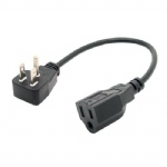 UL short power cable 5-15P/5-15R extension cord