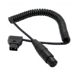 Coiled D-Tap Dap 2Pin Male to XLR 4pin female Cable