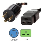 NEMA L5-20P to C19 Power Cord  20 Amps 125V