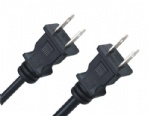 NEMA 1-15P USA two prong power cord plug with UL and CSA certification