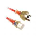 Medical grade AS/NZS3112 compliant and Electrical Safety Authority Approved IEC C13 Power Cable