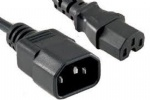 Power Extension Cable IEC C14 Male Plug to IEC C15 Female Socket