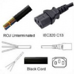 AC Power Cord ROJ to IEC 60320 C13 Connector