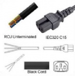 AC Power Cord ROJ to IEC 60320 C15 Connector