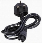 3 Pin UK Notebook Power Cord BS 13636 to IEC320 C5