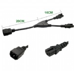 IEC 320 C14 to 2X C15 Y split Power cord C14 male to 2xC15 female cord