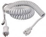 15 Feet Heavy Duty  Coiled Spring Extension Cord