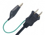 PSE certified Japan 2 prong power cord plug with ground strap