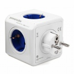 Original Creative Power Cube Socket EU Plug Adapter 4 Outlets Dual USB Ports