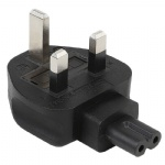 3-Pin Male To Iec 320 C7 Female Ac Adapter 3A Fuse