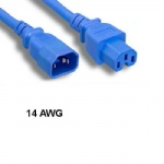 Blue 6' Power Extension Cable C14/C15 14AWG 15A