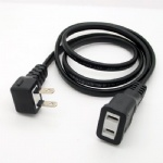 Japan 2 Prong Angled Plug to 2 Pin female extension Power Cord