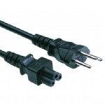 IEC320 C5  POWER CORD WITH SWISS PLUG TO IEC320